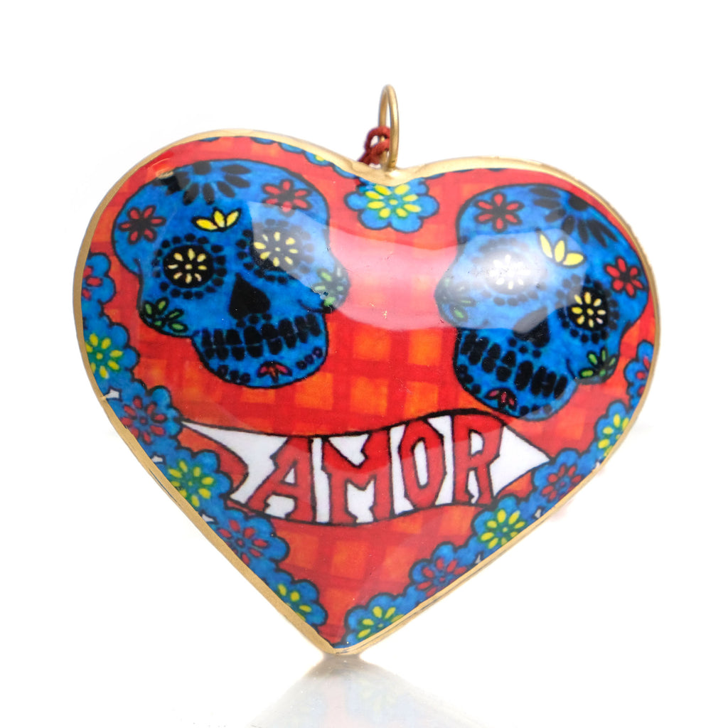 Amor Heart Ornament with Doves