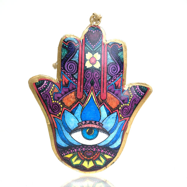 Hamsa Blue Eye Ornament