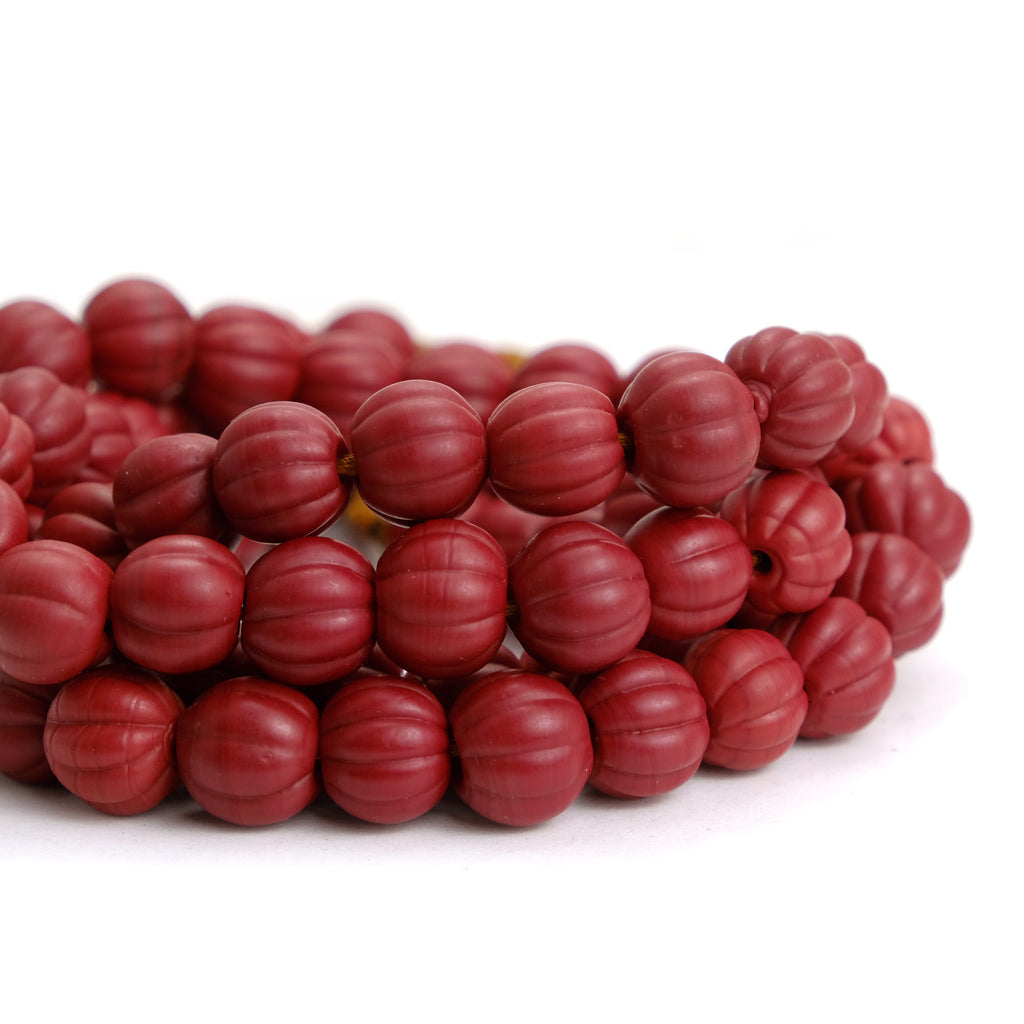 Hand Wound Java Melon Beads