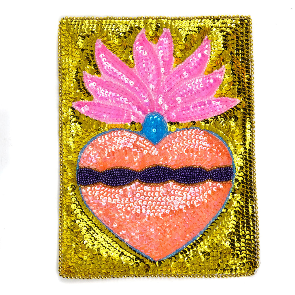 Sequin Patch, Sacred Heart