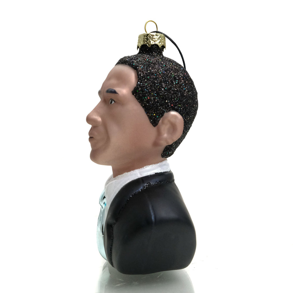 President Barack Obama Glass Ornament, Large