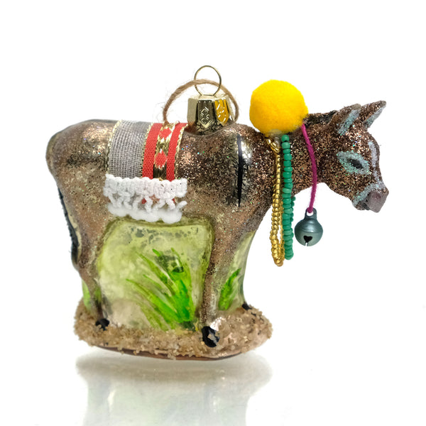 Burro Glass Ornament