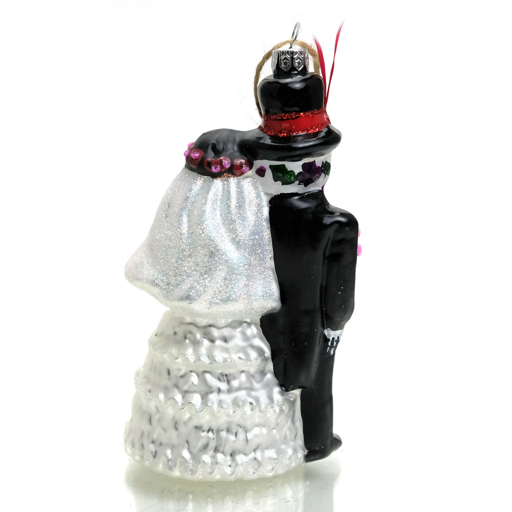 Bride & Groom Glass Ornament