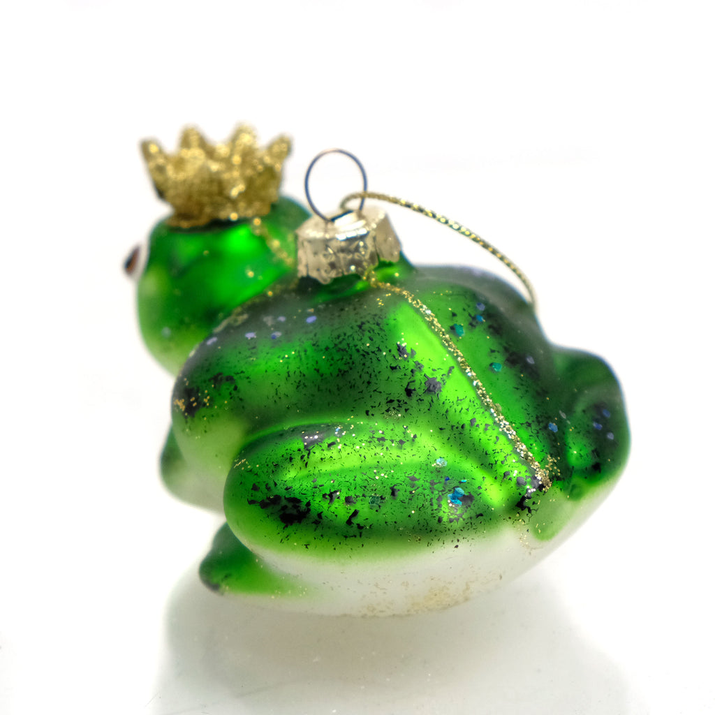 Heraldry Frog Glass Ornament