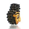 Buddha Head Recycled Glass Bead 3