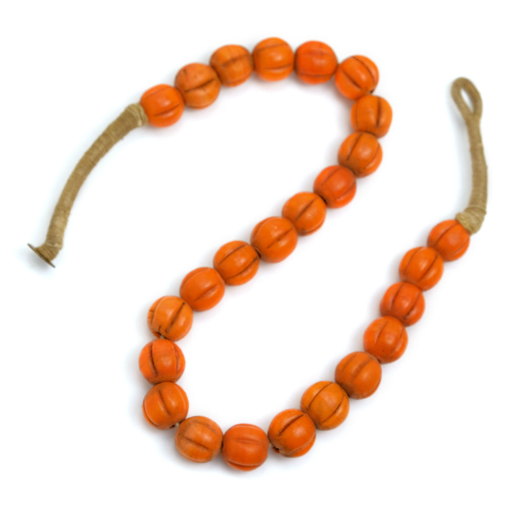 Naga Melon Bead Strand, Orange