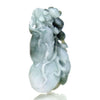 Jade Fine Nephrite Medicine Gourd Pendant with Guardian Animal 4