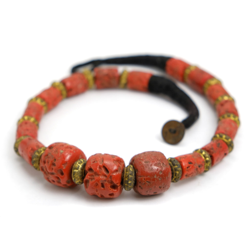 "Glass ""Coral"" Necklace"