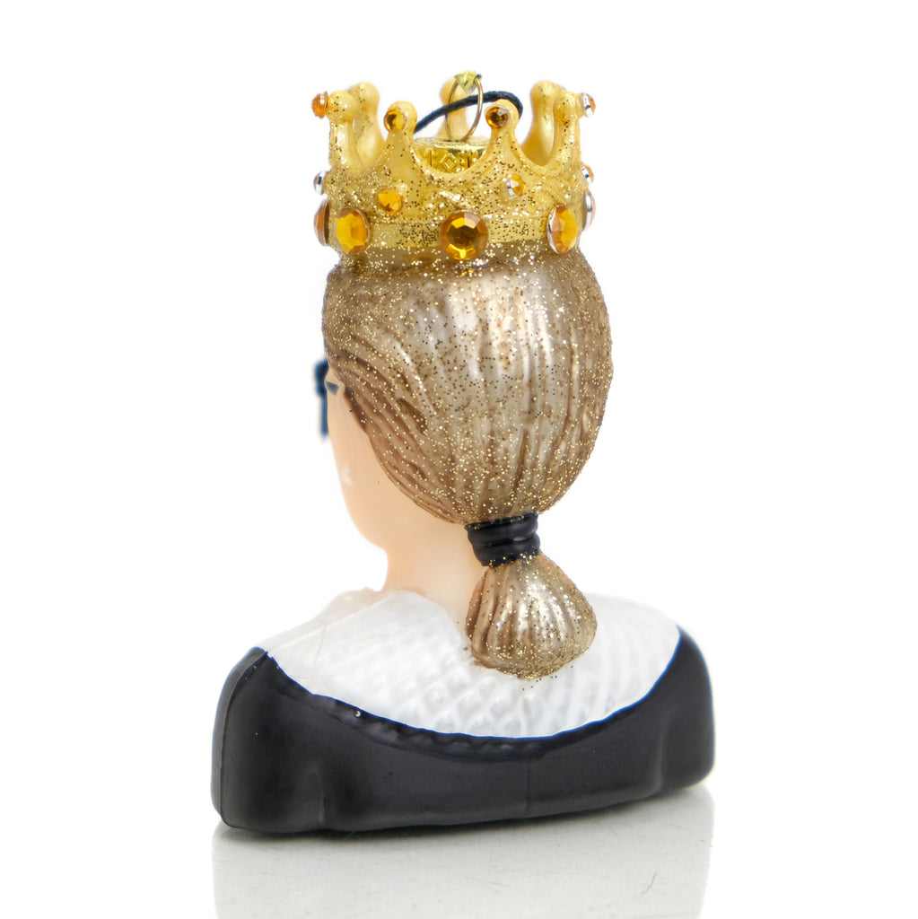 Ruth Bader Ginsburg Glass Ornament #2