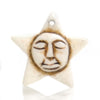 Carved Bone Pendant, Star