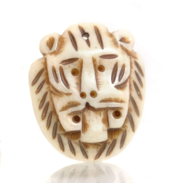Carved Bone Pendant, Lion