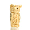 Carved Bone Pendant, Owl 2