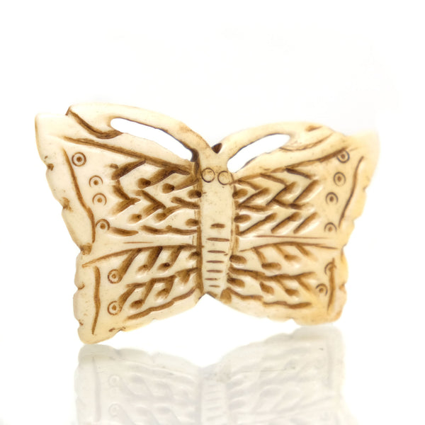 Carved Bone Pendant, Butterfly 1