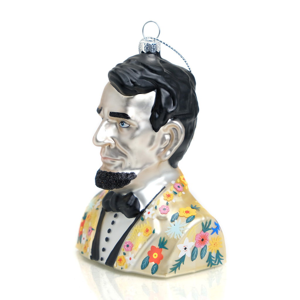 Hipster Abe Lincoln Ornament