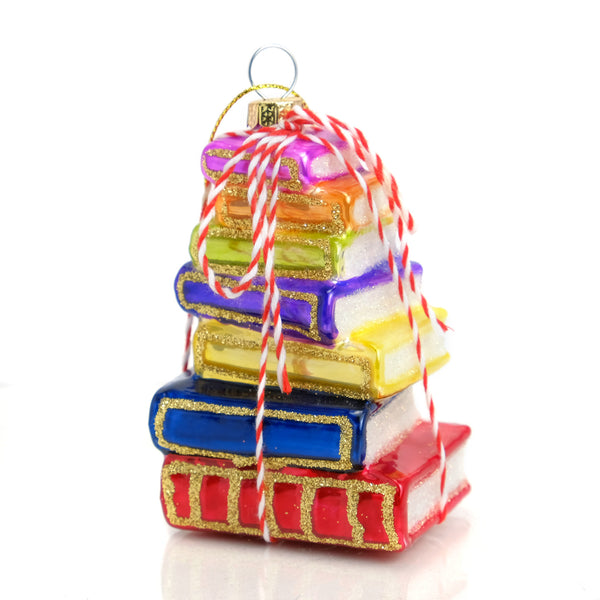 Stacked Tomes Bright Ornament