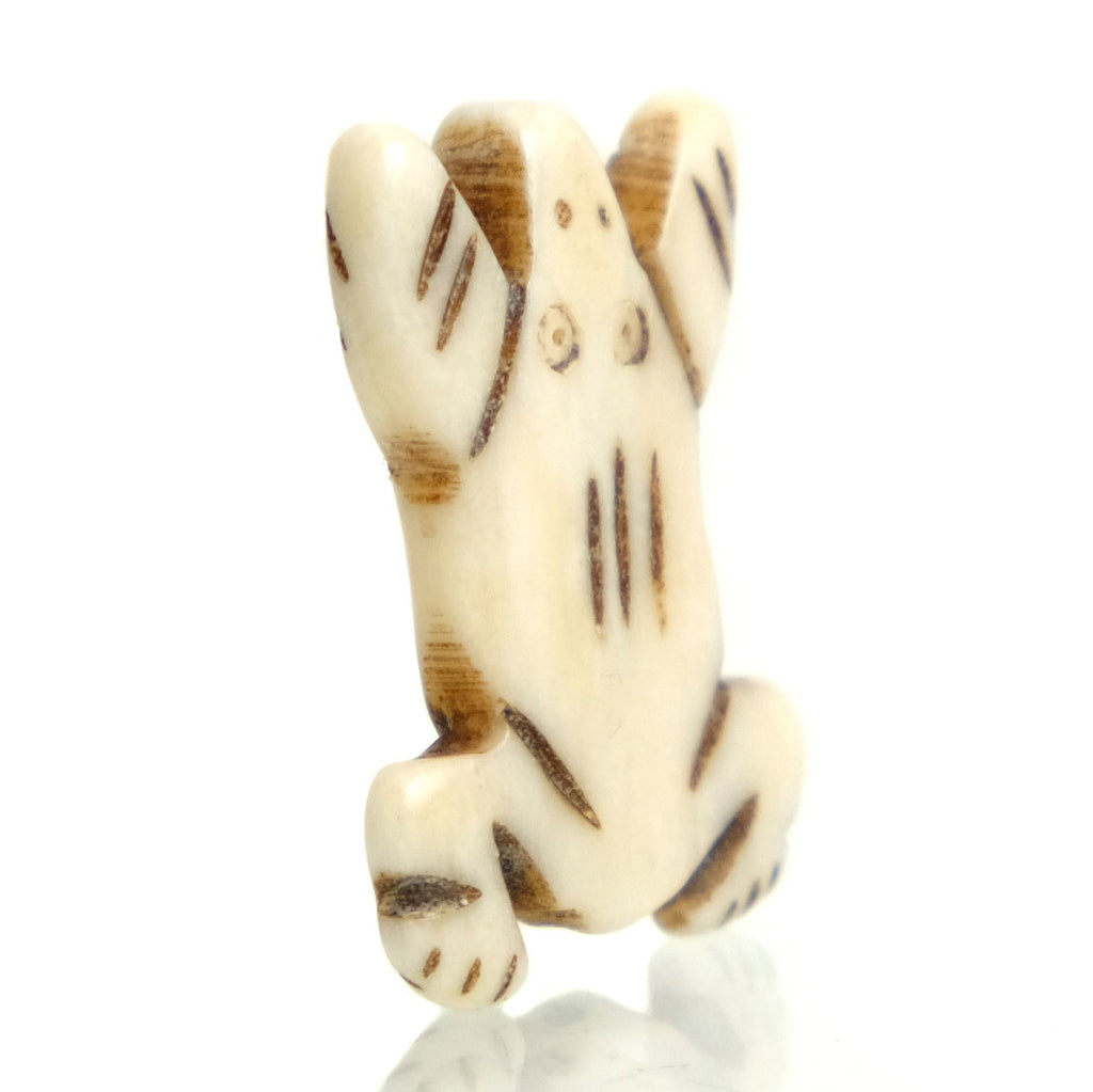 Carved Bone Pendant, Frog 2
