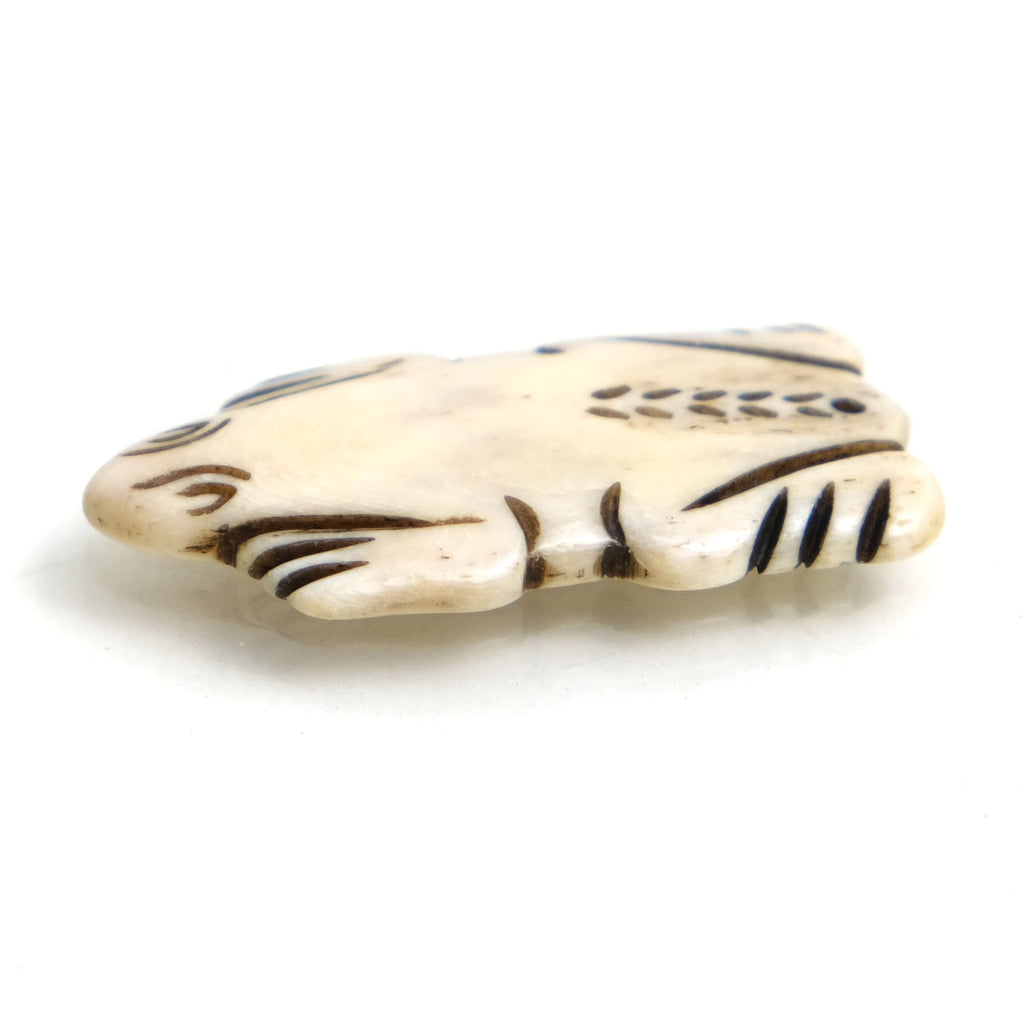 Carved Bone Pendant, Frog 1