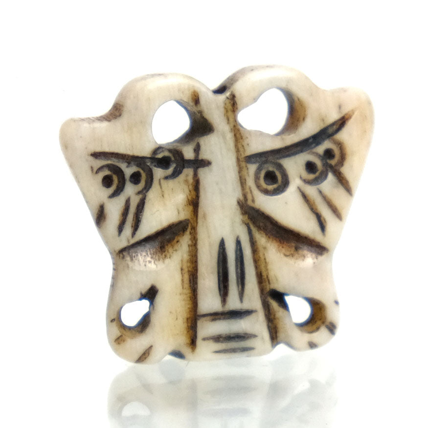 Carved Bone Pendant, Butterfly 5
