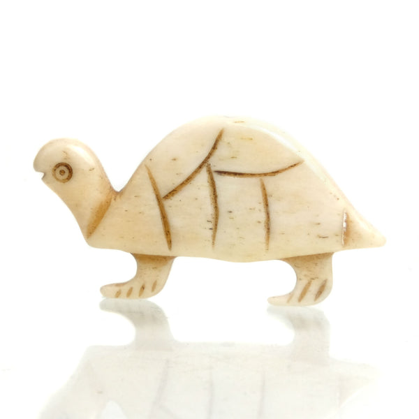 Carved Bone Pendant, Turtle 9