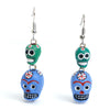 Ceramic Skull Earrings #2