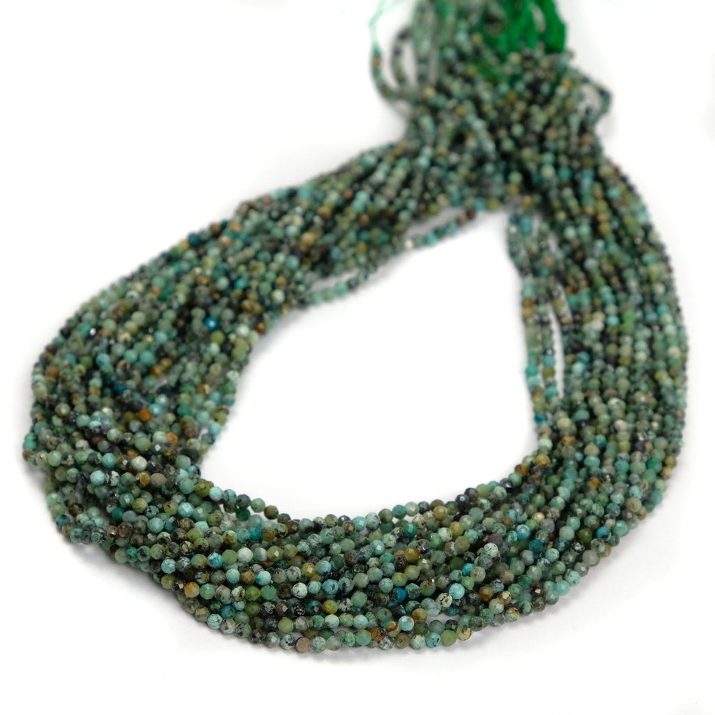 African Turquoise 2.5mm Faceted Rounds