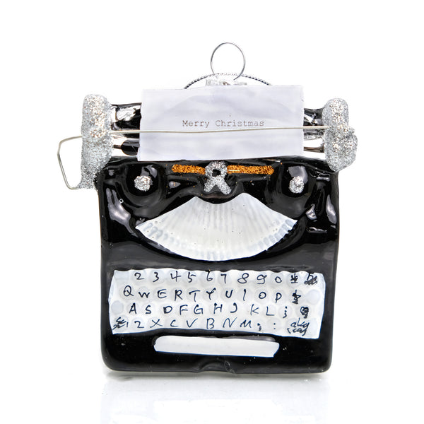 Holiday Greeting Typewriter Ornament