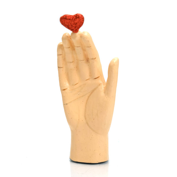 Heart and Hand Ornament
