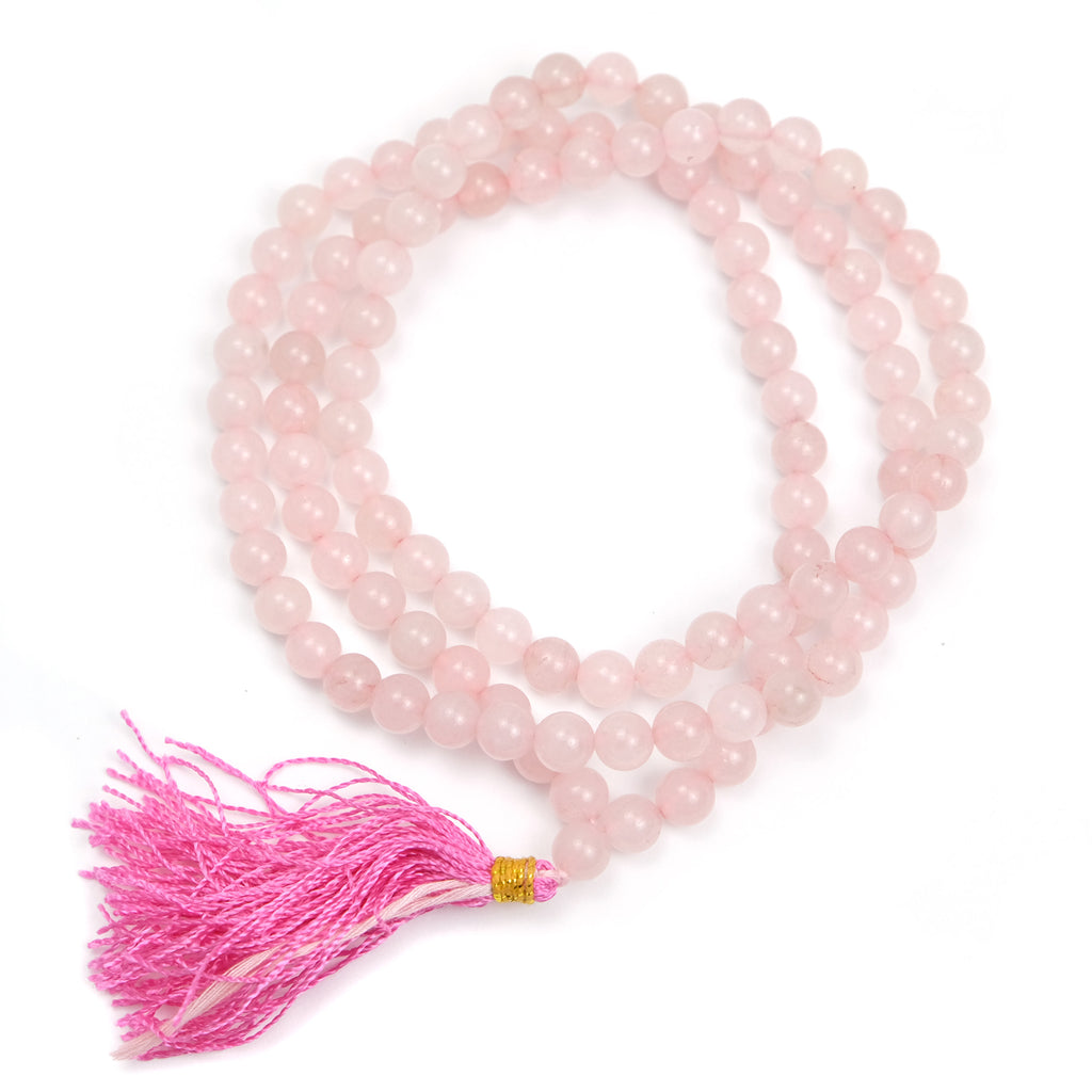 Rose Quartz 8mm Mala