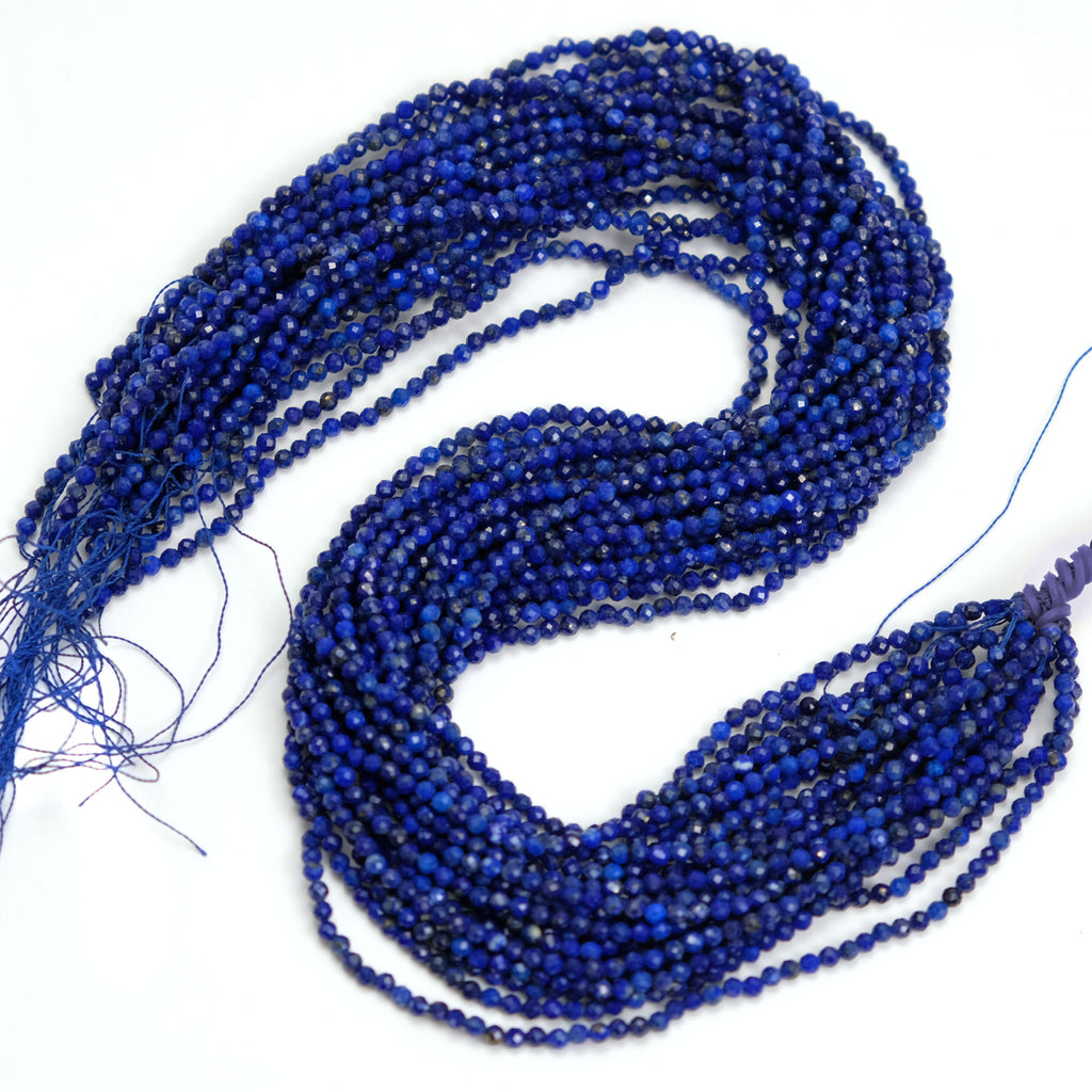 Lapis Lazuli 3mm Faceted Rounds