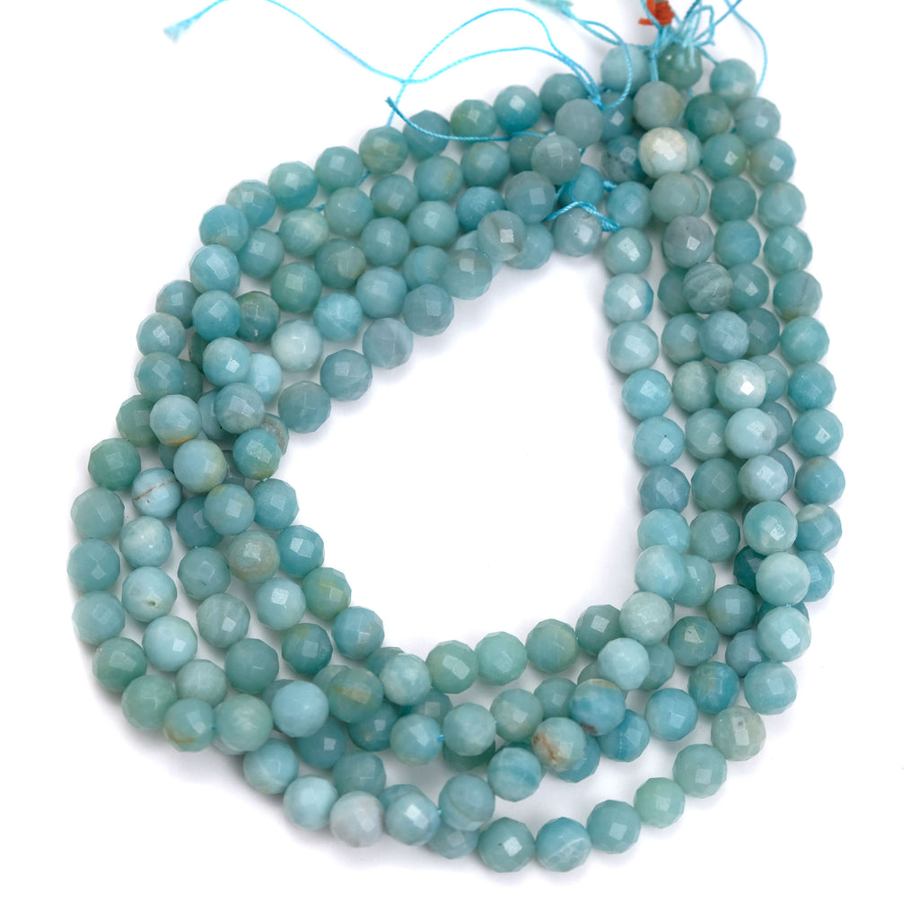 Amazonite 10mm Faceted Rounds