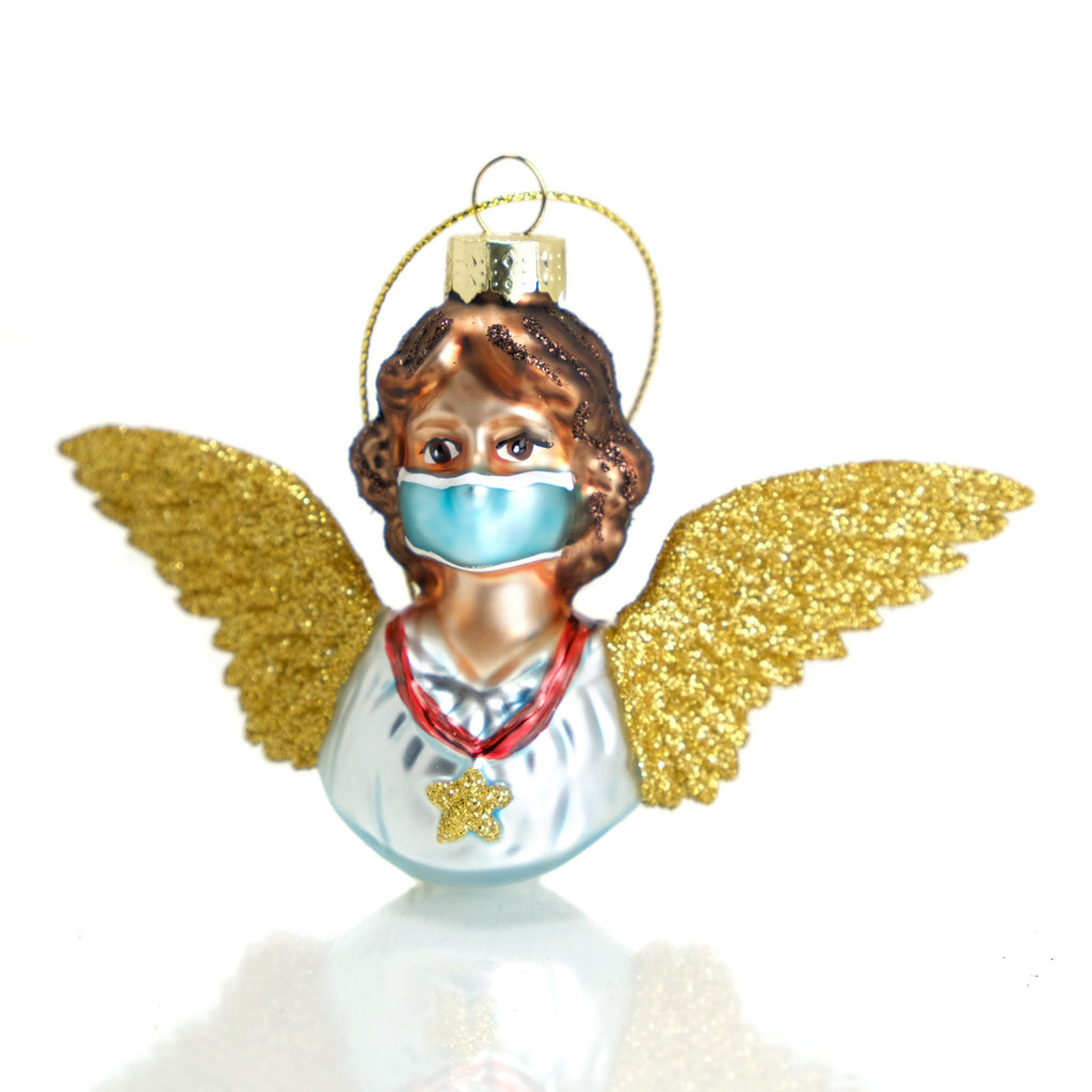 Angel with Mask Ornament