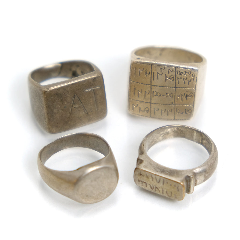 Mid 20th Century Tuareg Talismanic Finger Rings Collection
