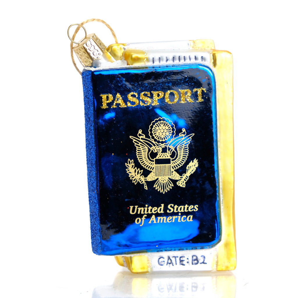 USA Passport Travel Ornament