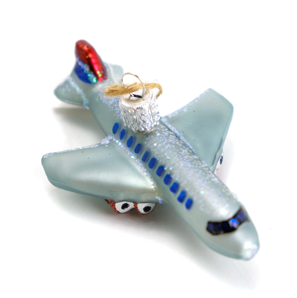 Safe Flying Passenger Airplane Travel Ornament