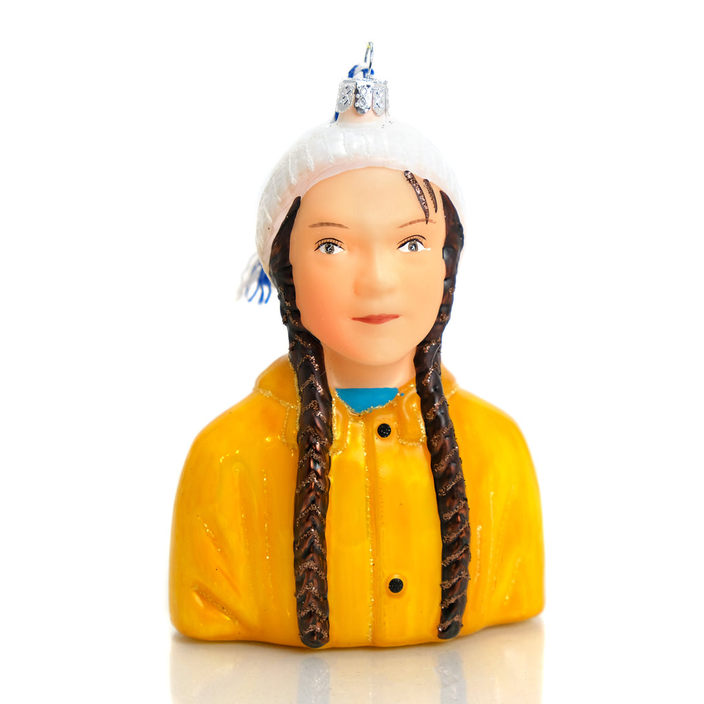 Greta Thunberg Climate Warrior Ornament