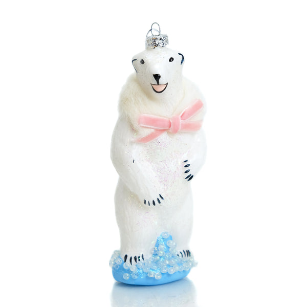Happy Polar Bear Ornament