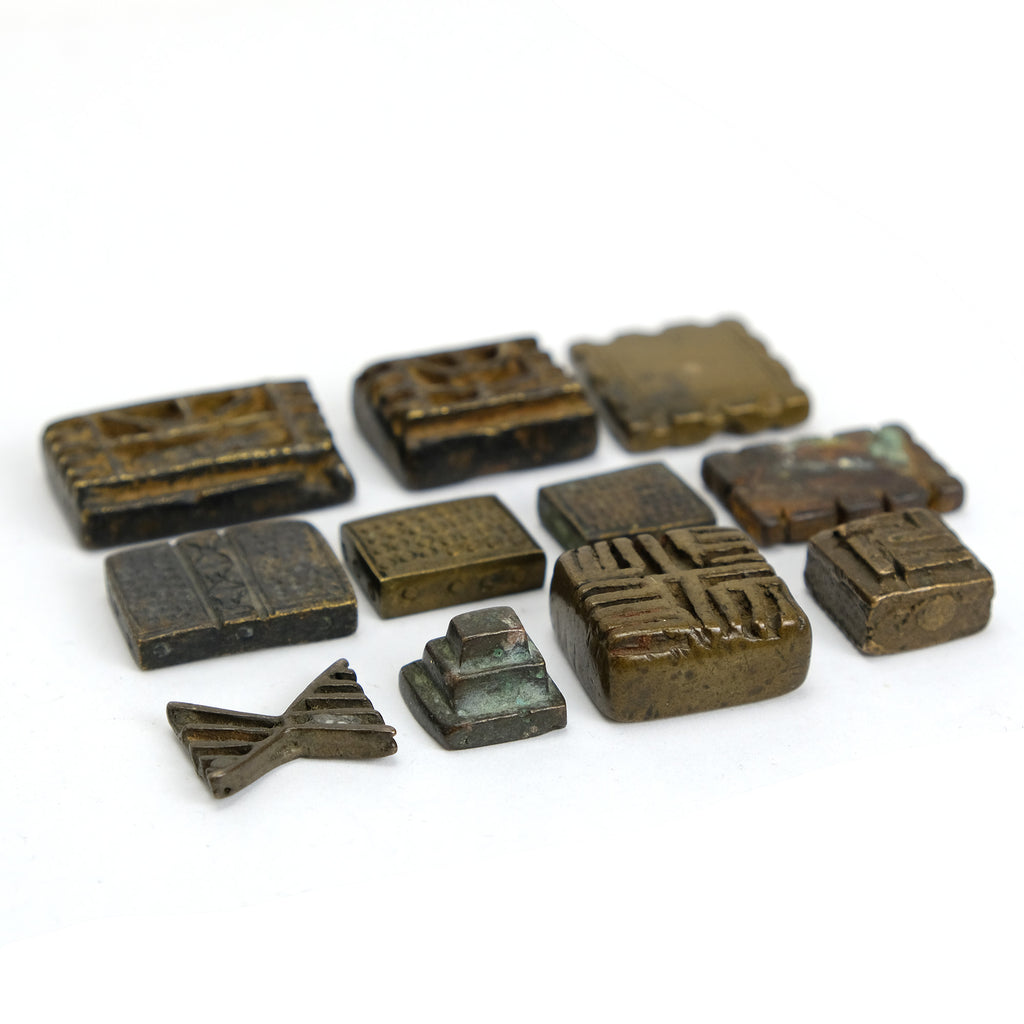 Gold Dust Weights Set from Asante People in Ghana