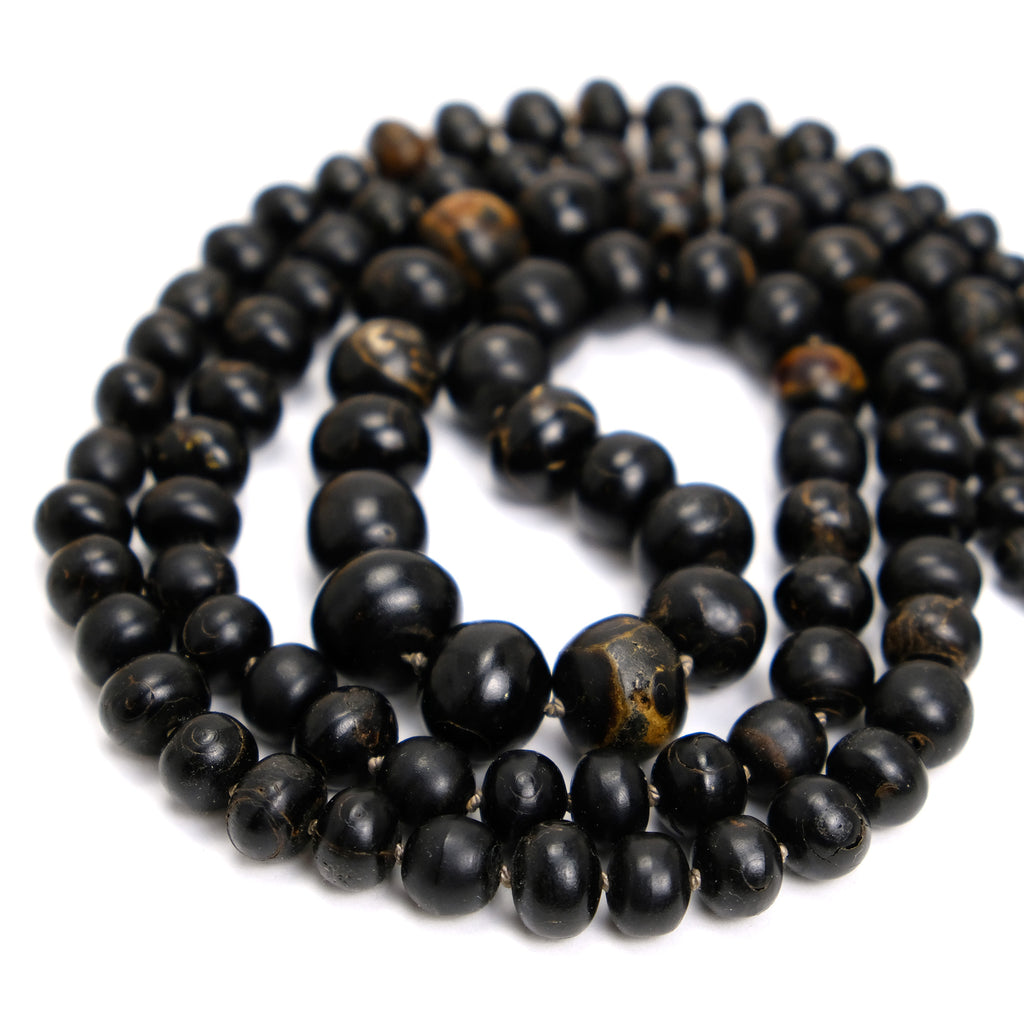 Black Coral Knotted Necklace