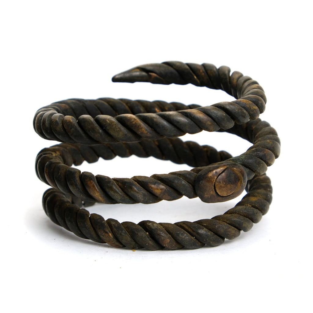 Benue River Valley 19th Century Coiled Copper Currency Bangles from Nigeria