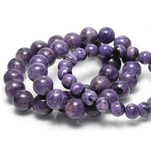 Charoite Stretch Bracelet 8mm, 12mm, 14mm