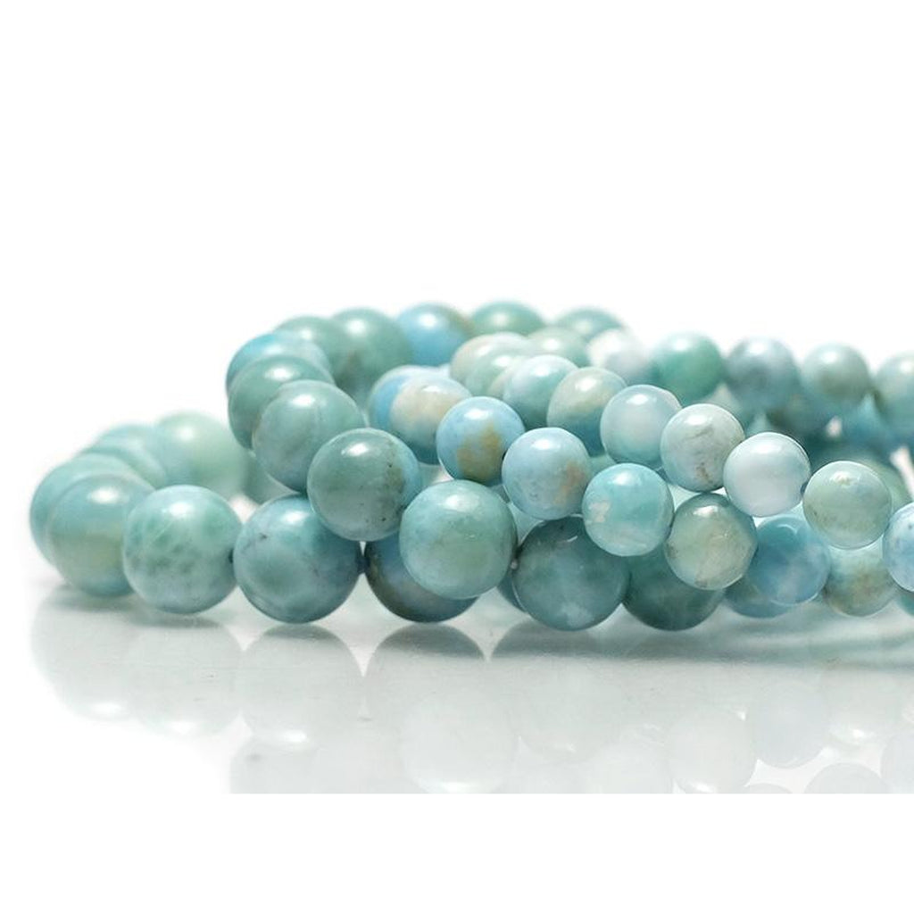 Larimar Stretch Bracelet 7mm, 8mm, 10mm, 12mm