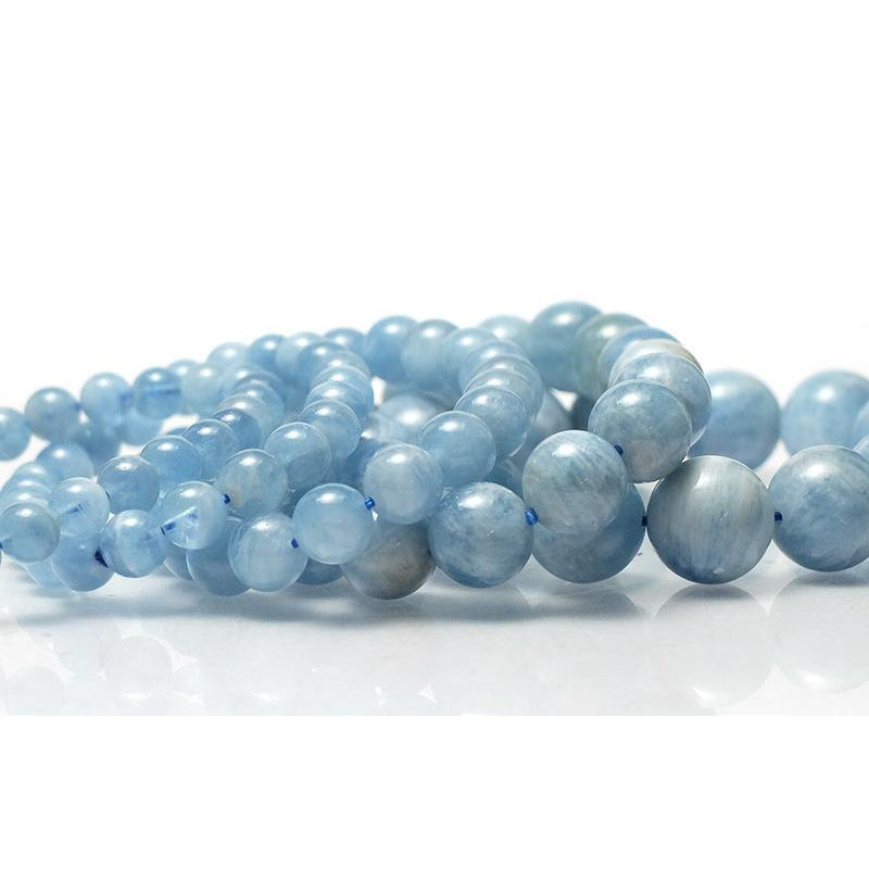Aquamarine Stretch Bracelet 7mm,8mm,9mm,12mm,15mm