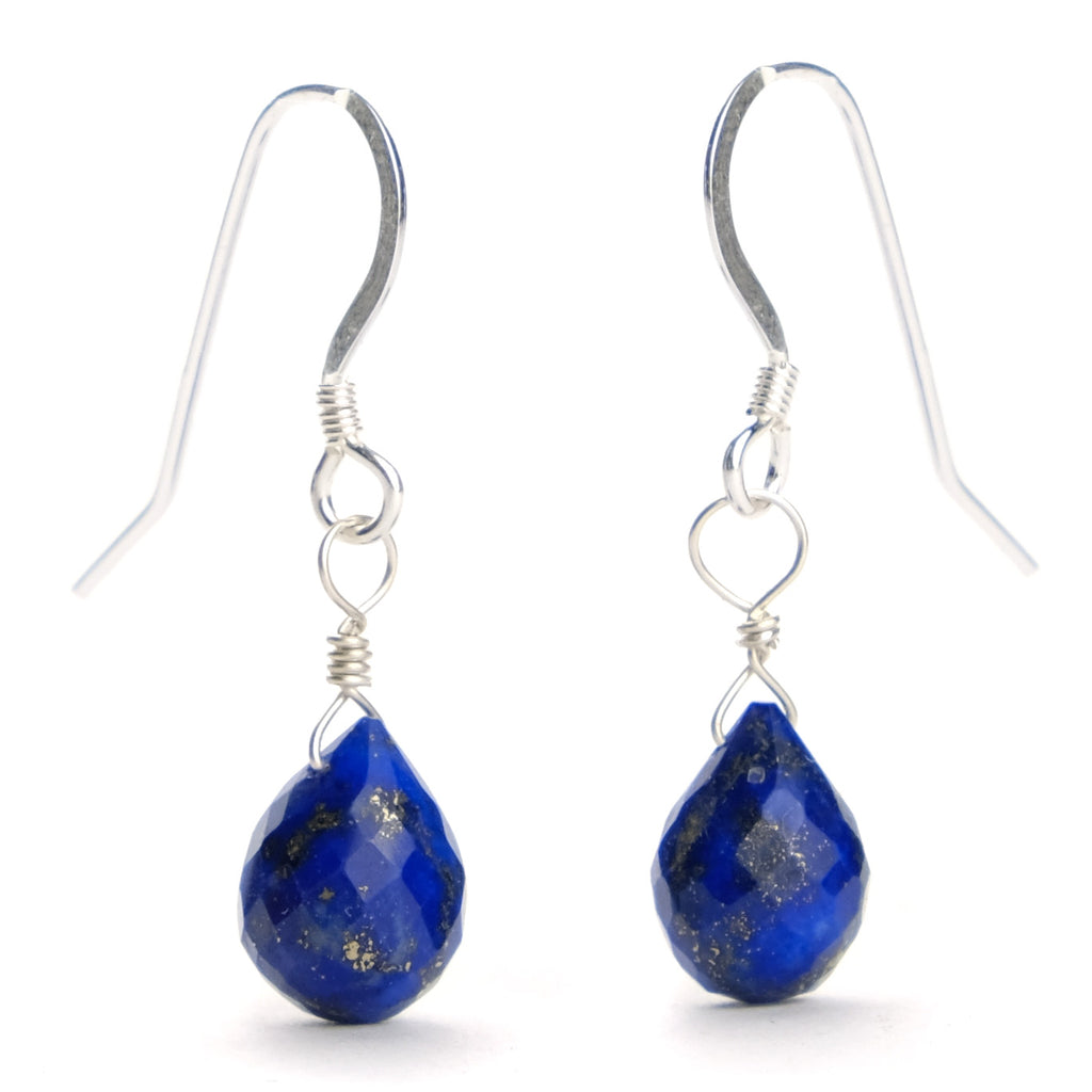 Lapis Lazuli Earrings with Sterling Silver French Earwires