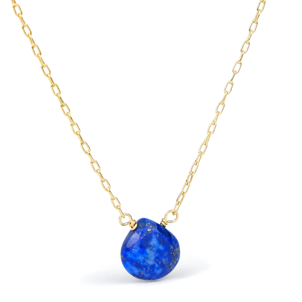 Lapis Lazuli Necklace on Gold Filled Chain and Gold Filled Trigger Clasp