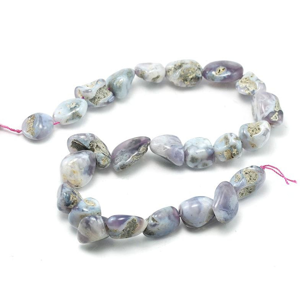 Lavender Chalcedony Nugget Strand