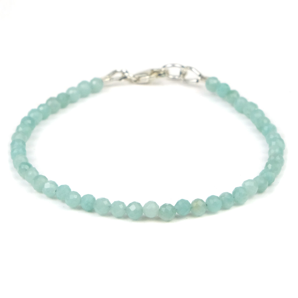 Amazonite Bracelet with Sterling Silver Trigger Clasp