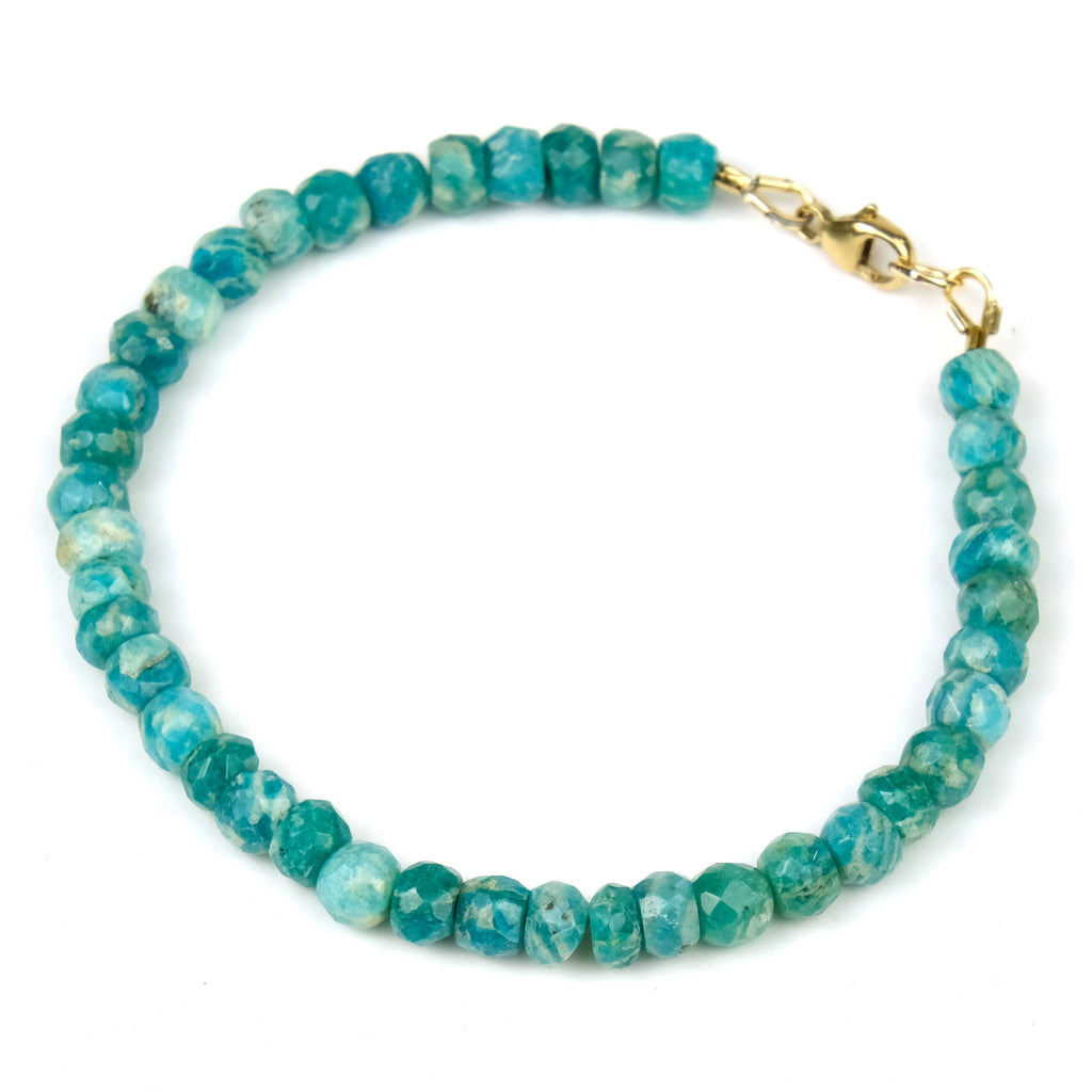 Amazonite Bracelet with Gold Filled Trigger Clasp