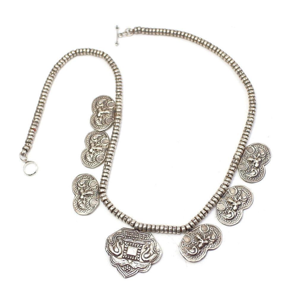 Hindu Antique  95% Silver Necklace