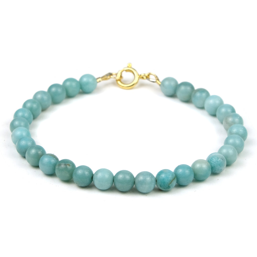 Amazonite Bracelet with Gold Filled Spring Clasp