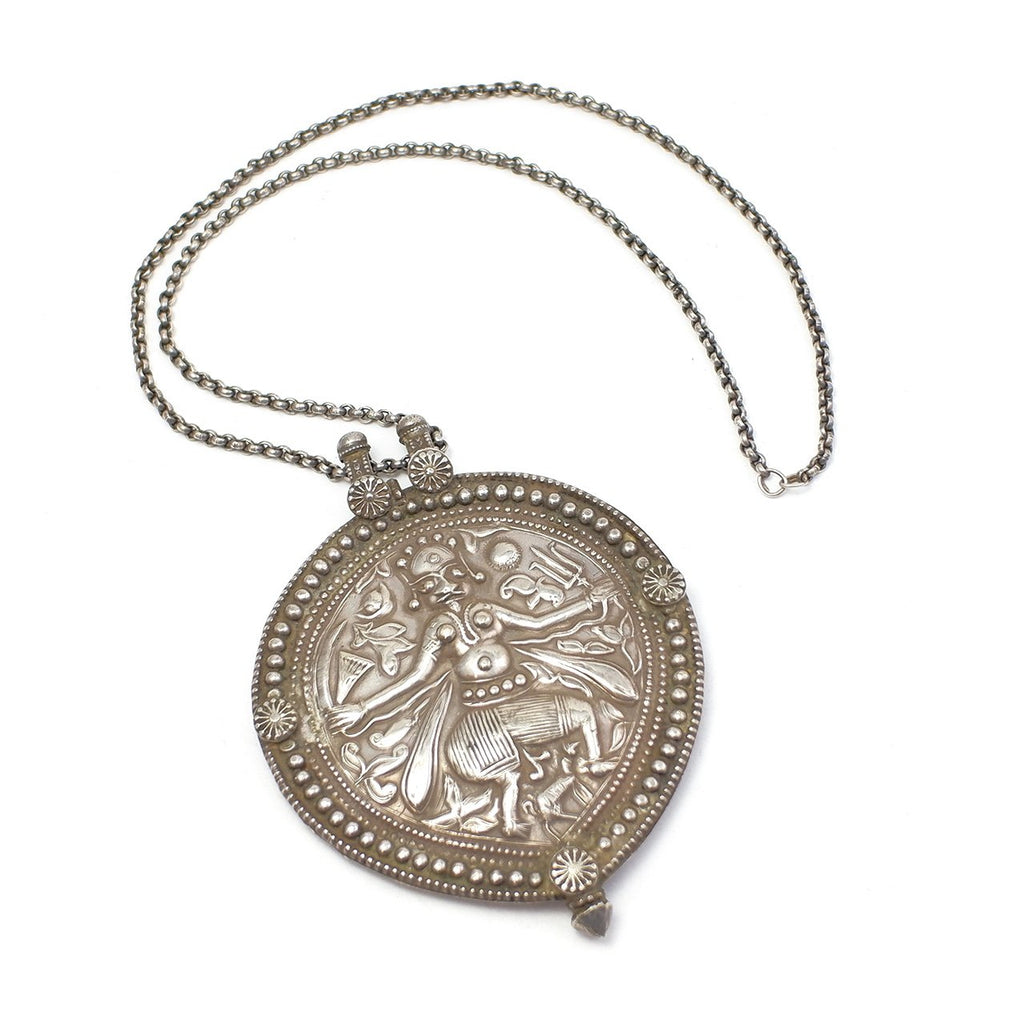 Hindu Antique Silver Pendant